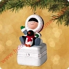 2002 Frosty Friends Porcelain Box, ClubHallmark Christmas Ornament