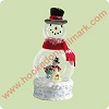 2004 Frosty Fun - Lighted large Snowglobe * DOES NOT LIGHT UP*Hallmark Christmas Ornament