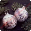 1974 Currier & Ives - set of 2 - Hard to Find!Hallmark Christmas Ornament