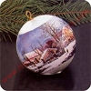 1975 Currier and Ives - Winter in the CountryHallmark Christmas Ornament