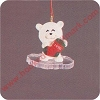 1990 Frosty Friends, Bear - MINIATUREHallmark Christmas Ornament