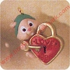 1991 Key To Love - MiniatureHallmark Christmas Ornament