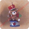 1991 Upbeat Bear - Miniature Hallmark Christmas Ornament