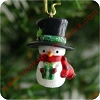 2003 Snow Cozy COLORWAY - MiniatureHallmark Christmas Ornament
