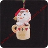 1989 Sitting Purrty, Club - MINIATUREHallmark Christmas Ornament