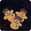 1988 Snowmen set of 6 - MINIATURE