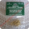 "Miniature Brass 1/4""  Ornament Hooks - Pkg of 25"