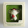 1981 Ambassador, White Mouse - VERY RAREHallmark Christmas Ornament