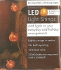 "Halloween - PUMPKIN LIGHTS - 40"" LED String - Battery OpHallmark Christmas Ornament"
