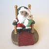 Santa Mouse in Chair - Tender Touches Figurine