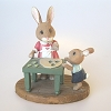 Mother Rabbit Baking - Tender Touches Figurine - RARE - NBHallmark Christmas Ornament