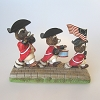 Raccoons with Flag - Tender Touches Figurine - NB