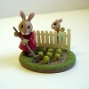 Bunnies Gardening - Mini Memories Figurine - Rare