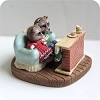 Raccoons at Fireplace - Mini Memories Figurine - Rare