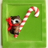 1981 Ambassador Raccoon on Candy Cane - RARE!Hallmark Christmas Ornament