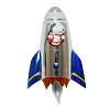 Snoopy Rocket Ship Flickering Night Light - by Roman