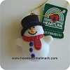 1990 Heartline SnowmanHallmark Christmas Ornament