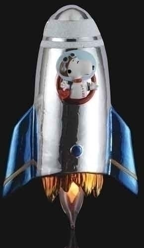 2014 Snoopy Rocket Ship Flickering Night Light - by Roman