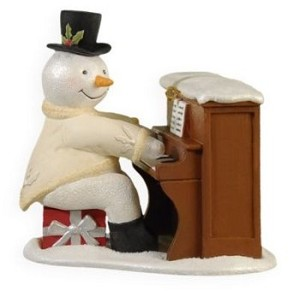 2009 Sing Along Snowman ORNAMENT