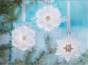 2011 Wonder and Light, Sparkling Snowflake Ornament Set- SDB