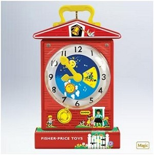 2011 Fisher-Price Music Box Teaching Clock