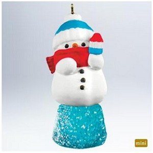 2011 Sweet Li'l Snowman - MINIATURE - Very hard to find!