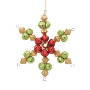 Red & Green, Jingle Bell Snowflake