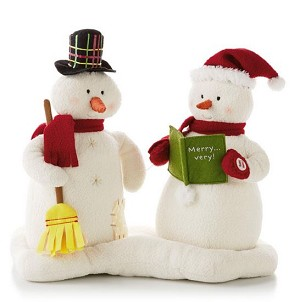 2013 Caroling Snowmen Commemorative Edition - Plush Tabletopper
