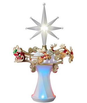 2015 Here Comes Santa Claus Tree Topper