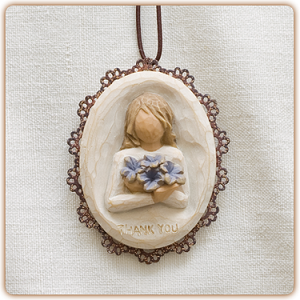 Willow Tree THANK YOU - Metal-edged Ornament