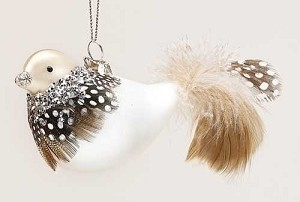 Crystal Collared Bird Ornament
