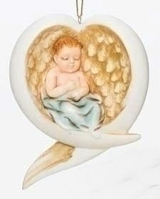 Baby in Angel Wings Ornament