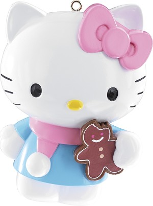 2014 Hello Kitty with Gingerbread - Carlton Ornament