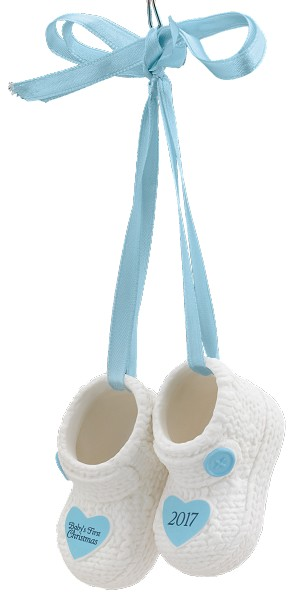 2017 babys first christmas porcelain booties carlton ornament 2017 babys first christmas boy porcelain booties am greetings ornament m4hsunfo Image collections