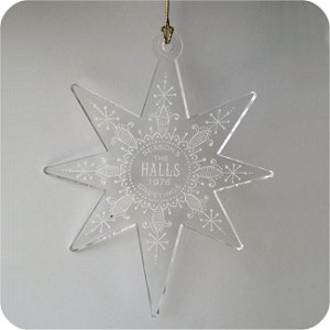 1976 Hall Family Ornament - No Card - Hard to find
