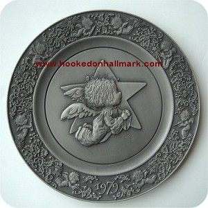 1979 Christmas Pewter Plate #3 - The Little Angel