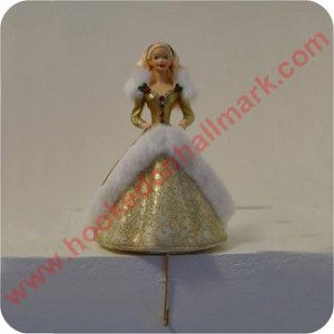 Barbie Stocking Hanger -  Gold Dress