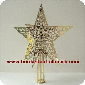 1980 Brass Star Tree Topper-N