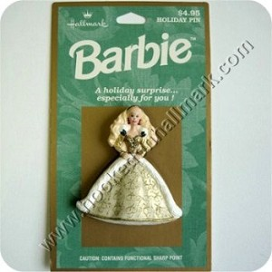 Holiday Barbie Lapel Pin