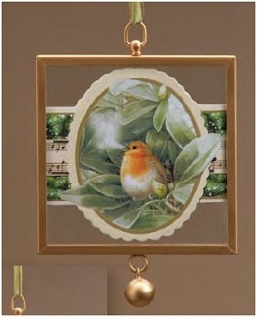 Snowbird Framed Glass Ornament