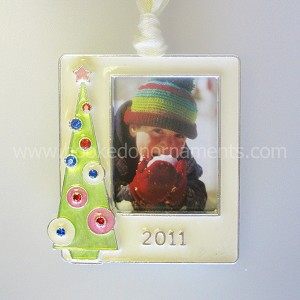 2011 Photo Frame, Green Tree