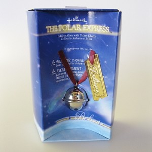 Polar Express Bell Necklace with Ticket Charm