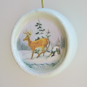 2011 White-Tailed Deer Ball Ornament, Canadian Wildlife Federation - CANADIAN EXCLUSIVE