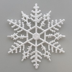 2014 Glitter WHITE Snowflake Ornaments, set of 15