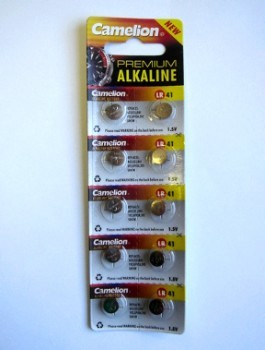 LR41 Alkaline Cell Batteries, 10 Pack
