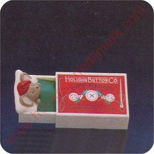 1984 Mouse asleep in Match Box - Merry Miniature