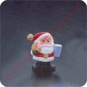 1990 Jingle Bell Santa - Merry Miniature