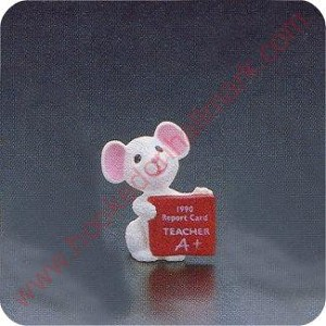 1990 Teacher Mouse - Merry Miniature