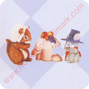 1996 Giving Thanks - Set of 3 Merry Miniatures