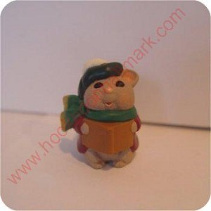 1995 Caroling Mouse - Merry Miniature
